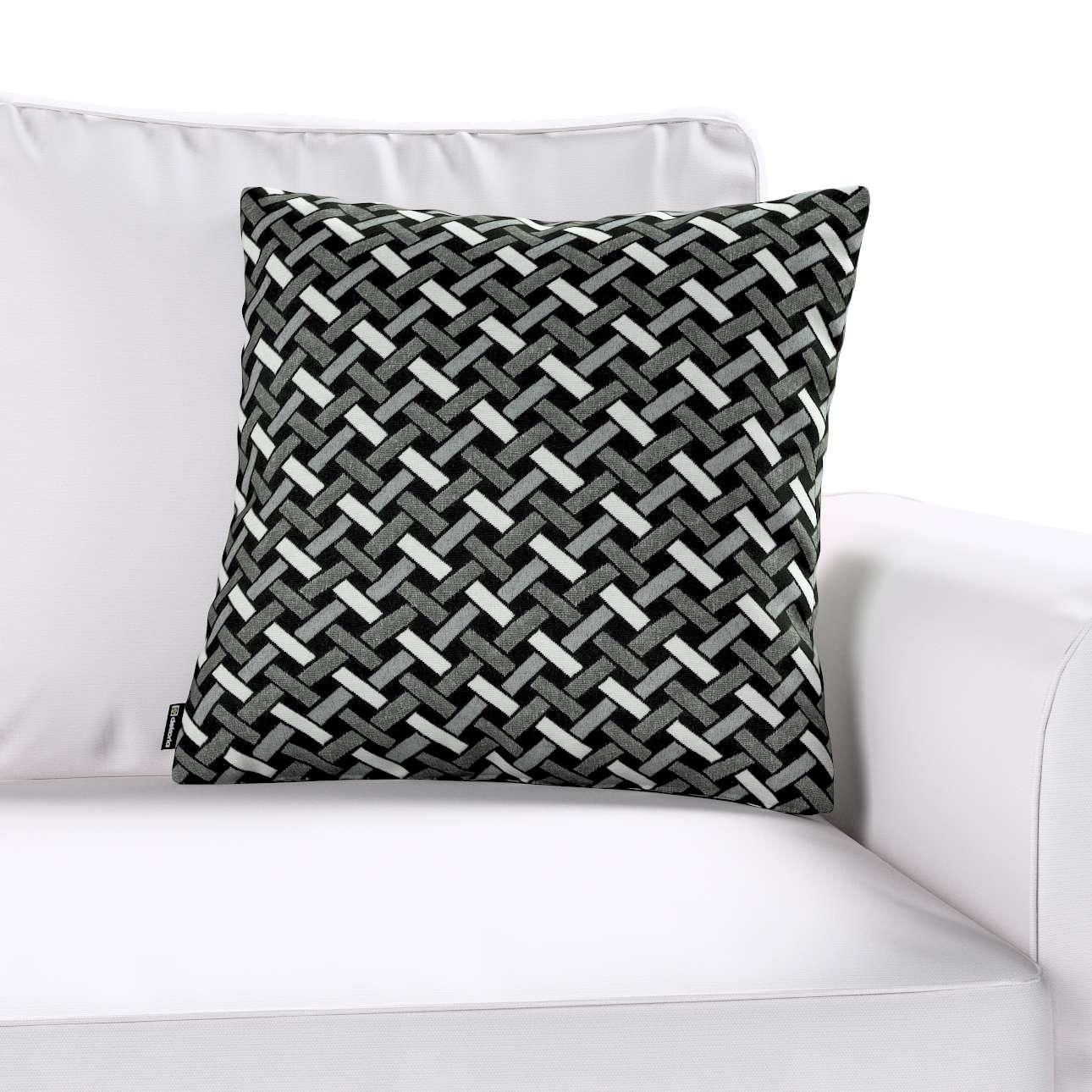 Kuddfodral standard i kollektionen Black & White, Tyg: 142-87