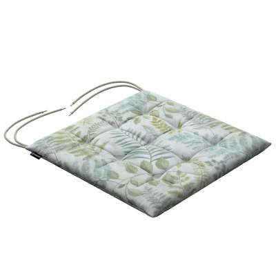 Charles seat pad with ties in collection Pastel Forest, fabric: 142-46