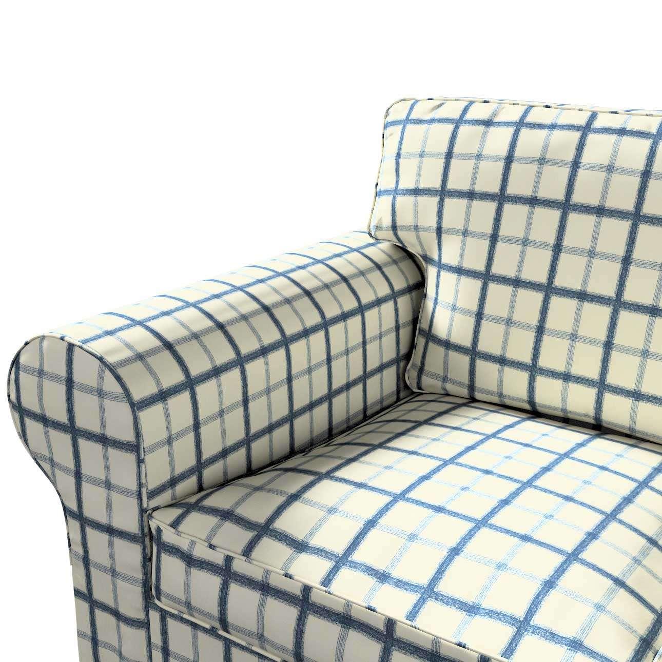 Ektorp trekk 3 seter sovesofa uten boks fra kolleksjonen Avinon, Stoffets bredde: 131-66