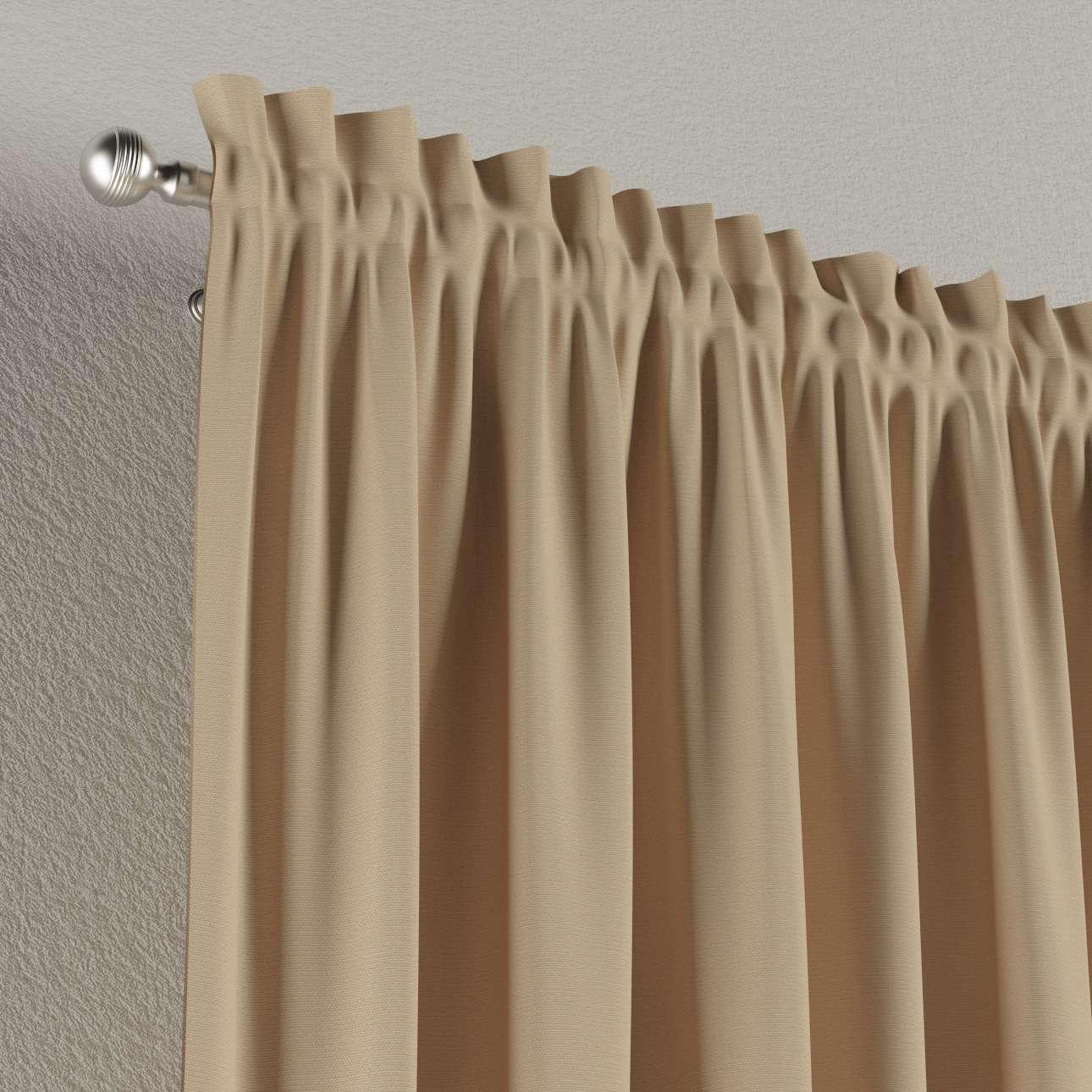 Vorhang mit Tunnel und Köpfchen von der Kollektion Cotton Panama, Stoff: 702-01
