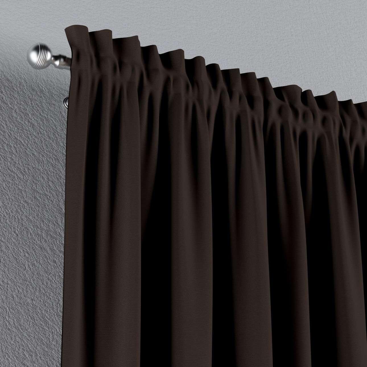 Zasłona na kanale z grzywką 1 szt. w kolekcji Cotton Panama, tkanina: 702-03