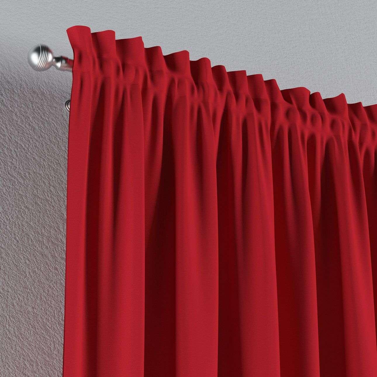 Vorhang mit Tunnel und Köpfchen von der Kollektion Cotton Panama, Stoff: 702-04