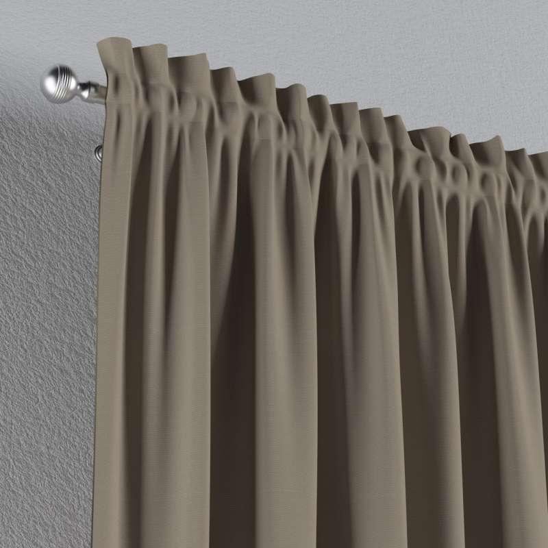 Zasłona na kanale z grzywką 1 szt. w kolekcji Cotton Panama, tkanina: 702-28