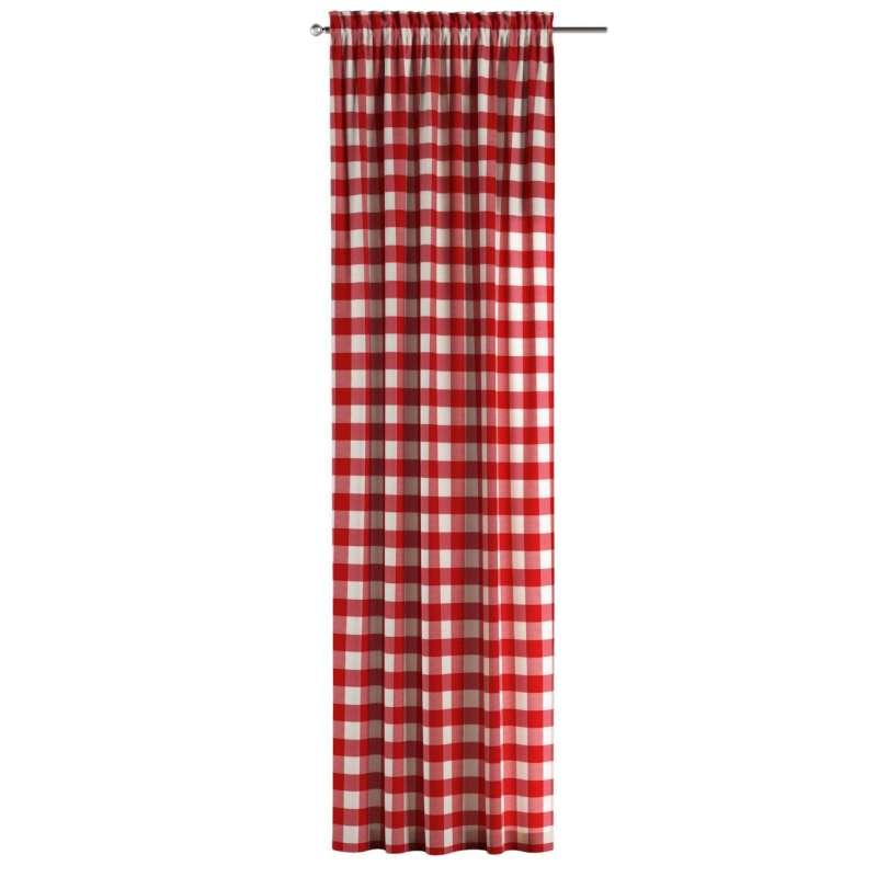 Záves s navliekacou riasiacou páskou V kolekcii Quadro, tkanina: 136-18