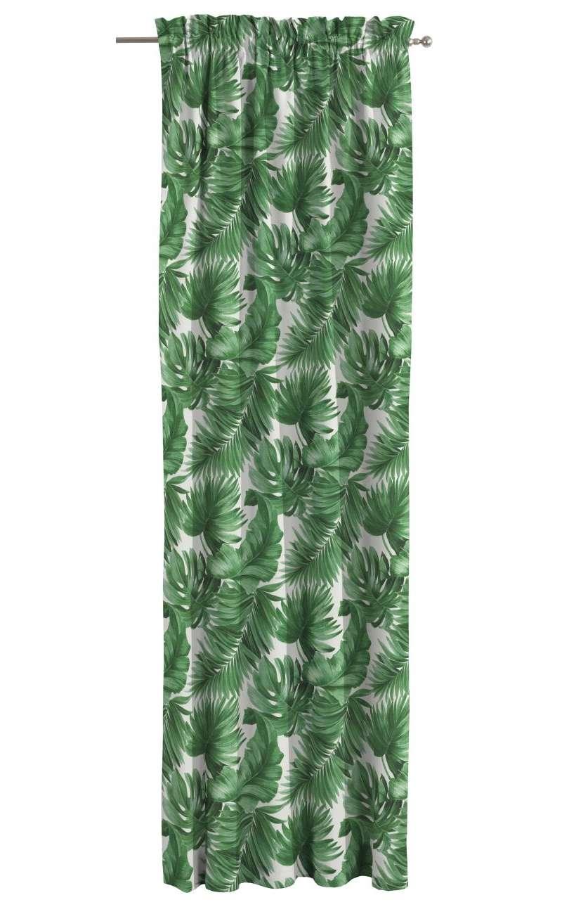 Zasłona na kanale z grzywką 1 szt. w kolekcji Tropical Island, tkanina: 141-71