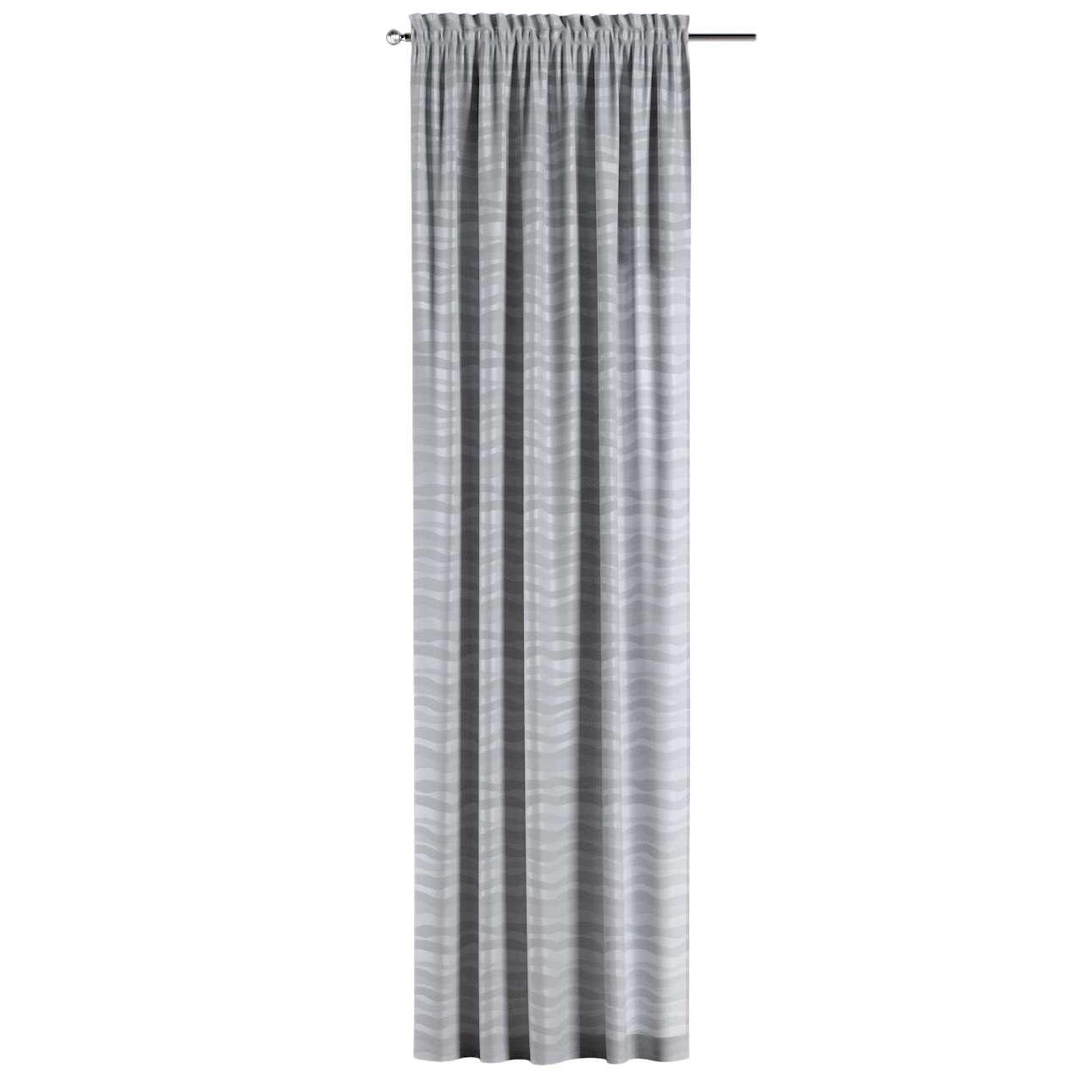 Gardin med kanal och rynkband för fingerkrokar - 1 längd i kollektionen Damasco, Tyg: 141-72