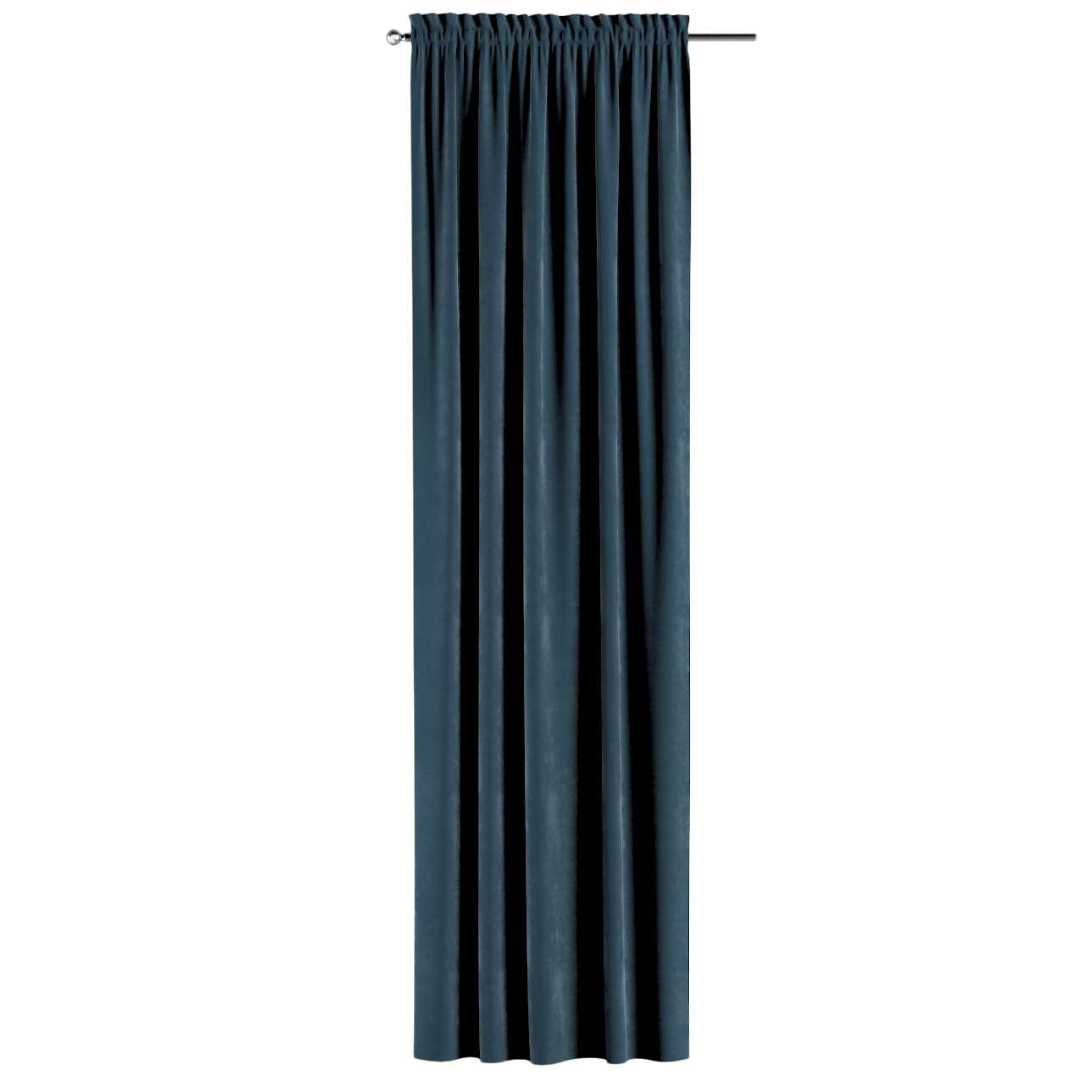 Gardin med kanal och rynkband för fingerkrokar - 1 längd i kollektionen Velvet, Tyg: 704-16