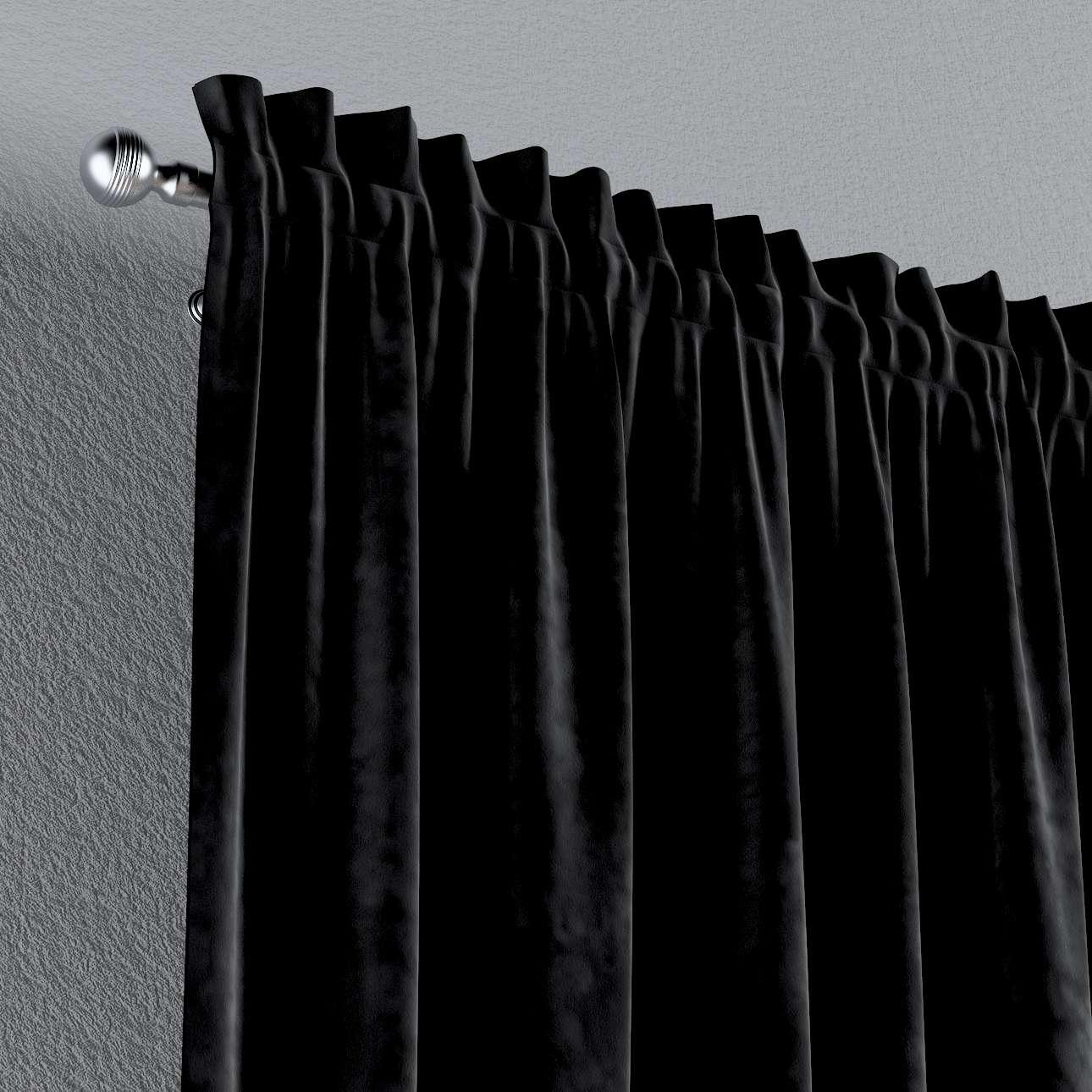 Gardin med kanal och rynkband för fingerkrokar - 1 längd i kollektionen Velvet, Tyg: 704-17