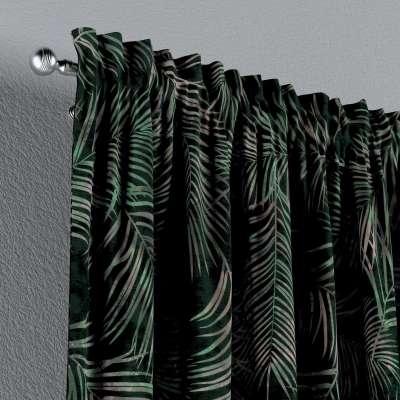 Vorhang mit Tunnel und Köpfchen von der Kollektion Velvet, Stoff: 704-21