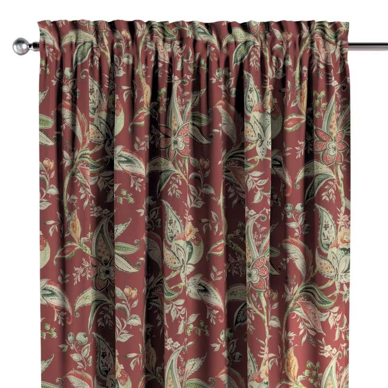 Zasłona na kanale z grzywką 1 szt. w kolekcji Gardenia, tkanina: 142-12