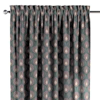 Gardin med kanal och rynkband för fingerkrokar - 1 längd i kollektionen Gardenia, Tyg: 142-17