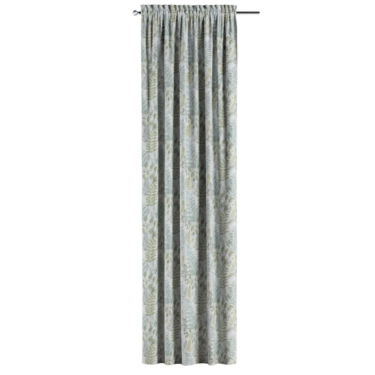 Gardin med kanal och rynkband för fingerkrokar - 1 längd i kollektionen Pastel Forest, Tyg: 142-46