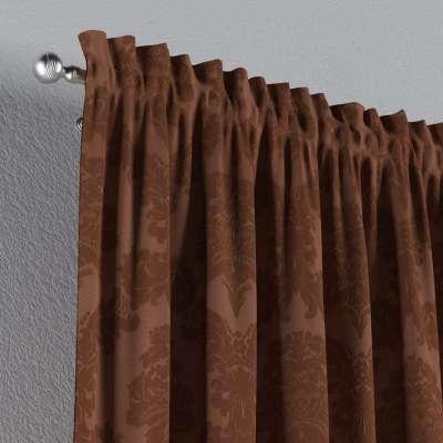 Gardin med kanal och rynkband för fingerkrokar - 1 längd i kollektionen Damasco, Tyg: 613-88