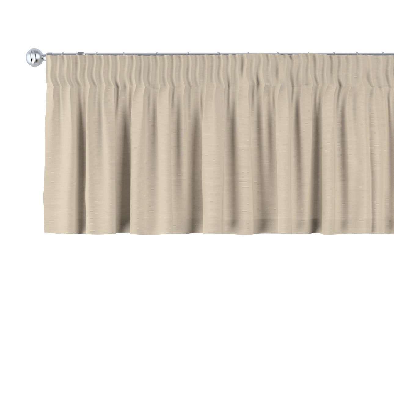 Gardinkappe med rynkebånd og løpegang H40cm fra kolleksjonen Cotton Panama, Stoffets bredde: 702-01