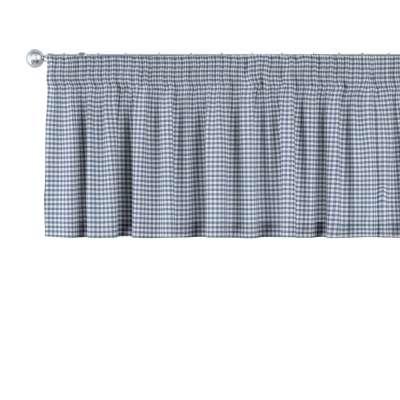 Gardinkappe med rynkebånd og løpegang H40cm fra kolleksjonen Quadro, Stoffets bredde: 136-00