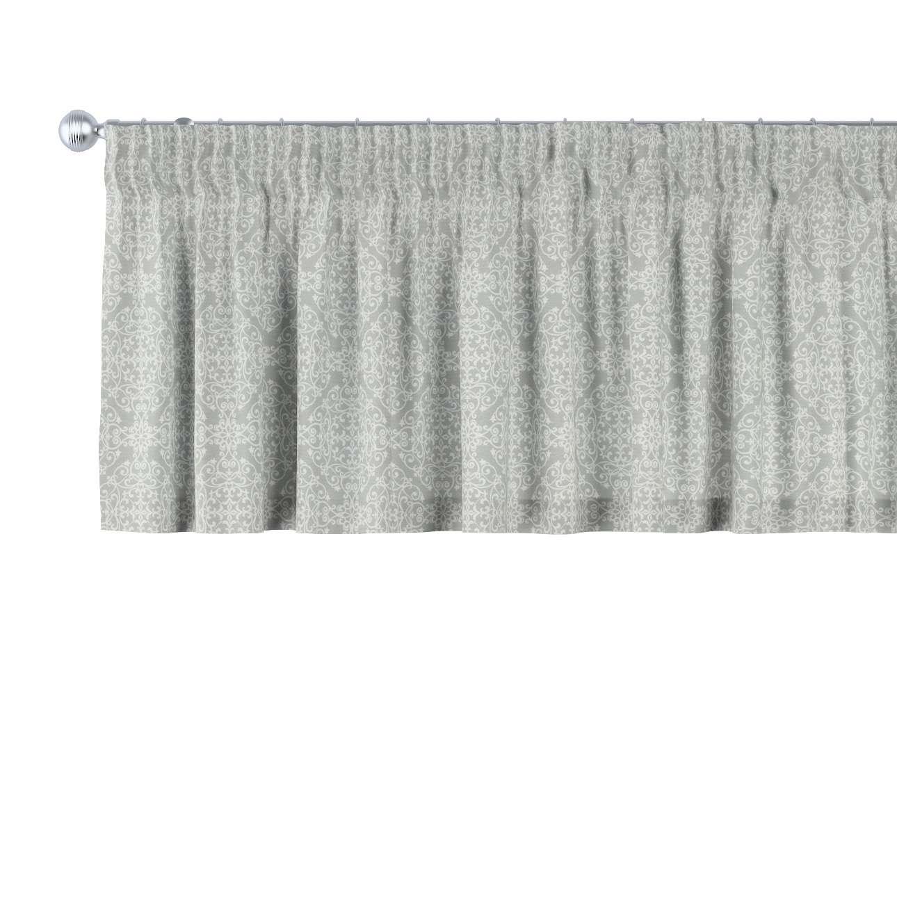Gardinkappe med rynkebånd og løpegang H40cm fra kolleksjonen Flowers, Stoffets bredde: 140-38