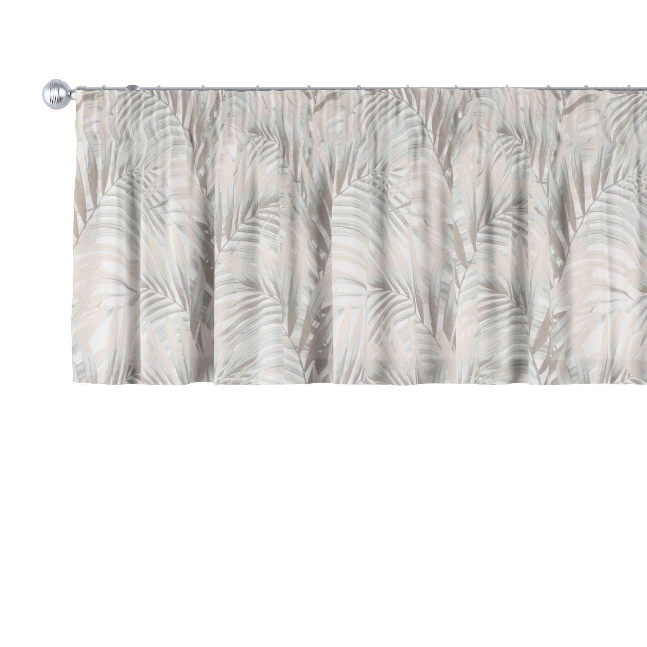 Krátky záves na riasiacej páske V kolekcii Gardenia, tkanina: 142-14