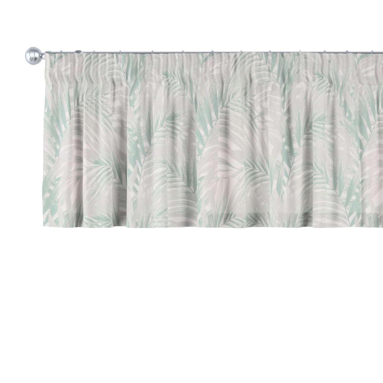 Krátky záves na riasiacej páske V kolekcii Gardenia, tkanina: 142-15
