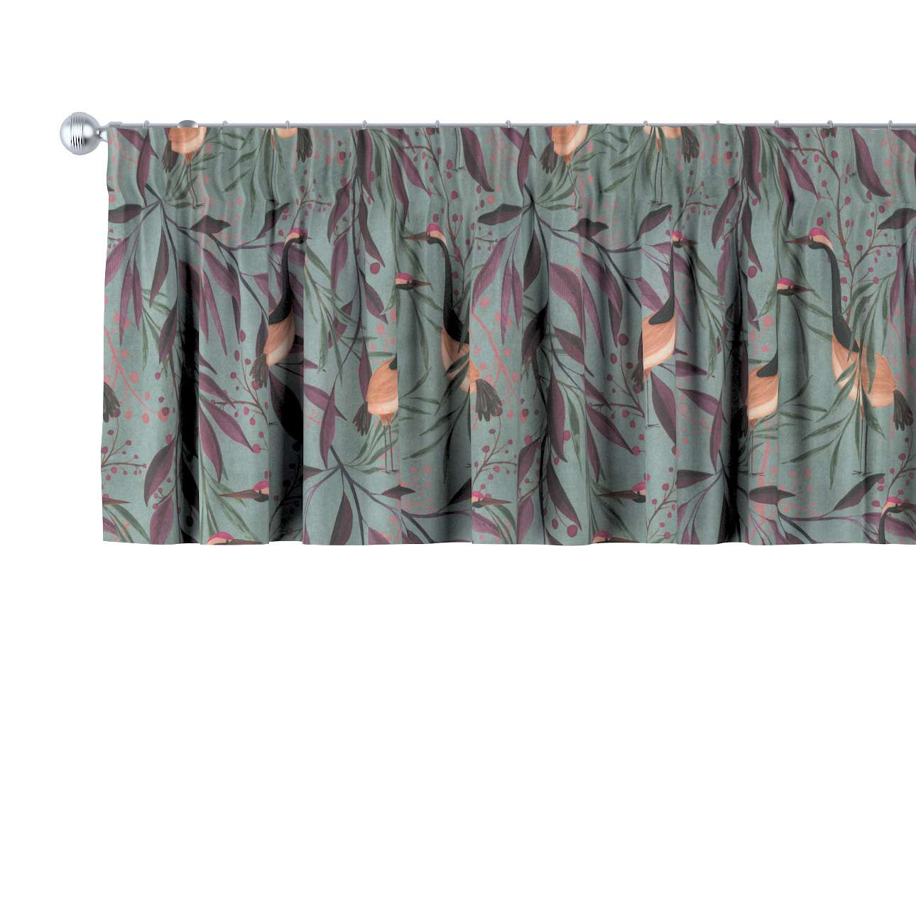 Gardinkappe med rynkebånd og løpegang H40cm fra kolleksjonen Abigail, Stoffets bredde: 143-11