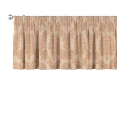 Krátky záves na riasiacej páske V kolekcii Damasco, tkanina: 613-04