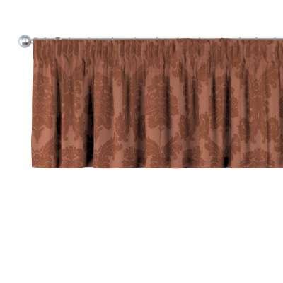 Krátky záves na riasiacej páske V kolekcii Damasco, tkanina: 613-88