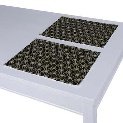 Dækkeservietter 2 stk. fra kollektionen Black & White, Stof: 142-56