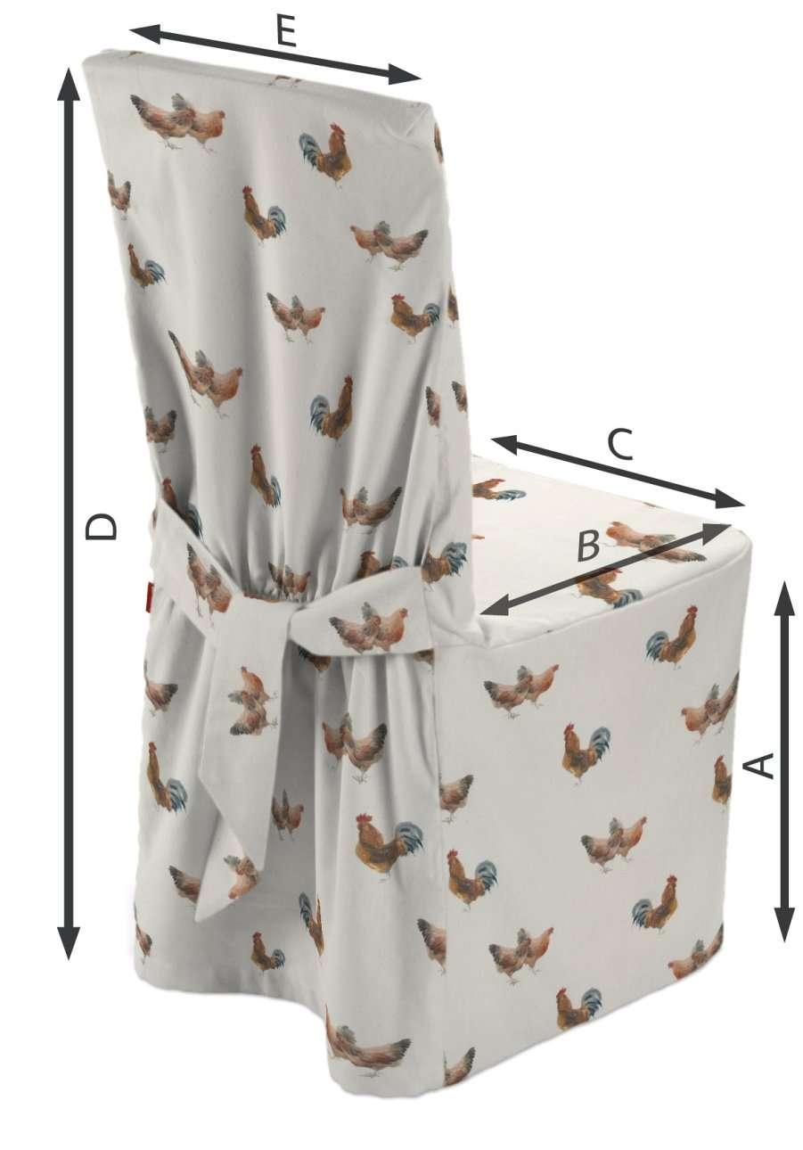 Sukienka na krzesło w kolekcji Flowers, tkanina: 141-80