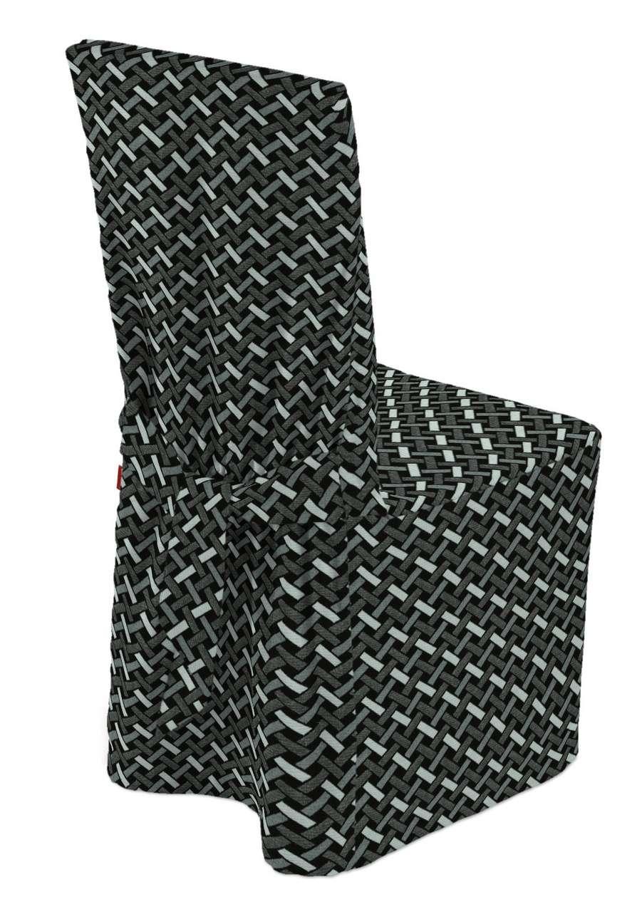 Stolsöverdrag i kollektionen Black & White, Tyg: 142-87