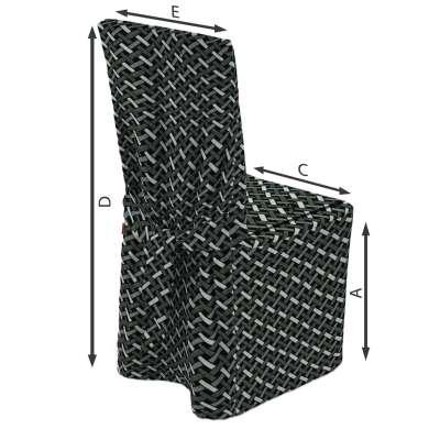 Sukienka na krzesło w kolekcji Black & White, tkanina: 142-87