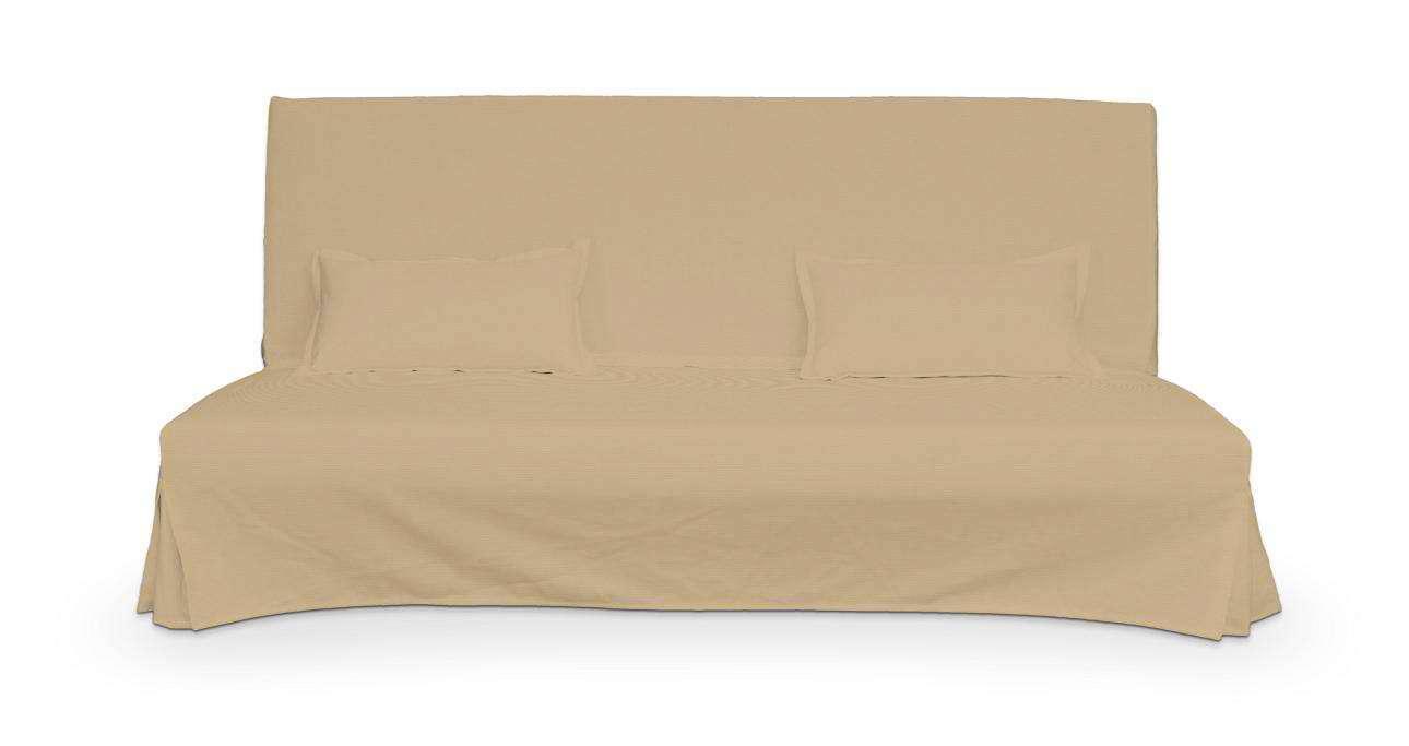 Pokrowiec niepikowany na sofę Beddinge i 2 poszewki w kolekcji Cotton Panama, tkanina: 702-01