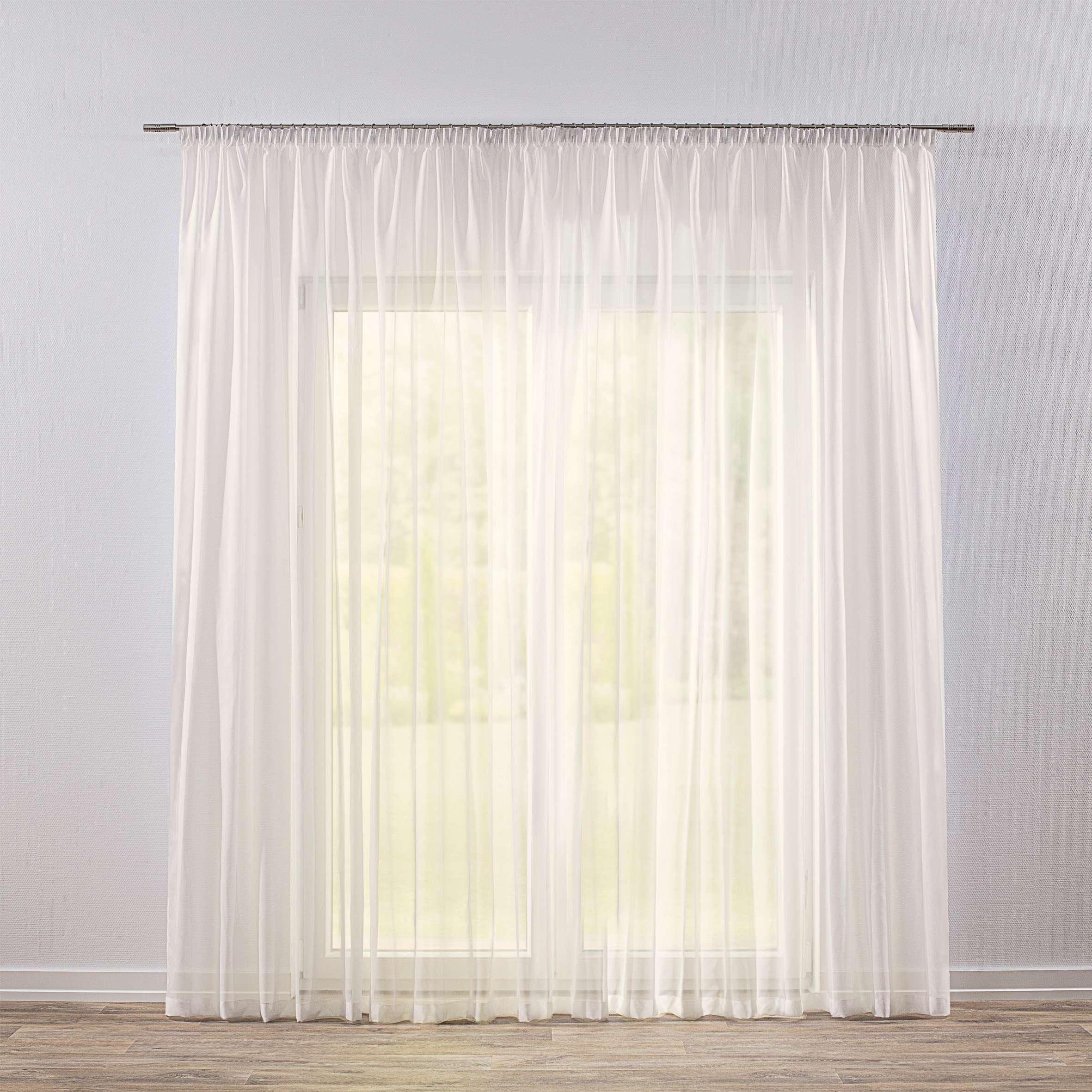 Pencil Pleat Voile Net Curtain Ivory 900 01 300 X 260 Cm 118 102 Inch Dekoria