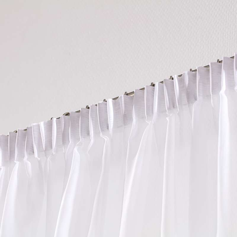 Pencil pleat voile/net curtain in collection Voile, fabric: 901-00