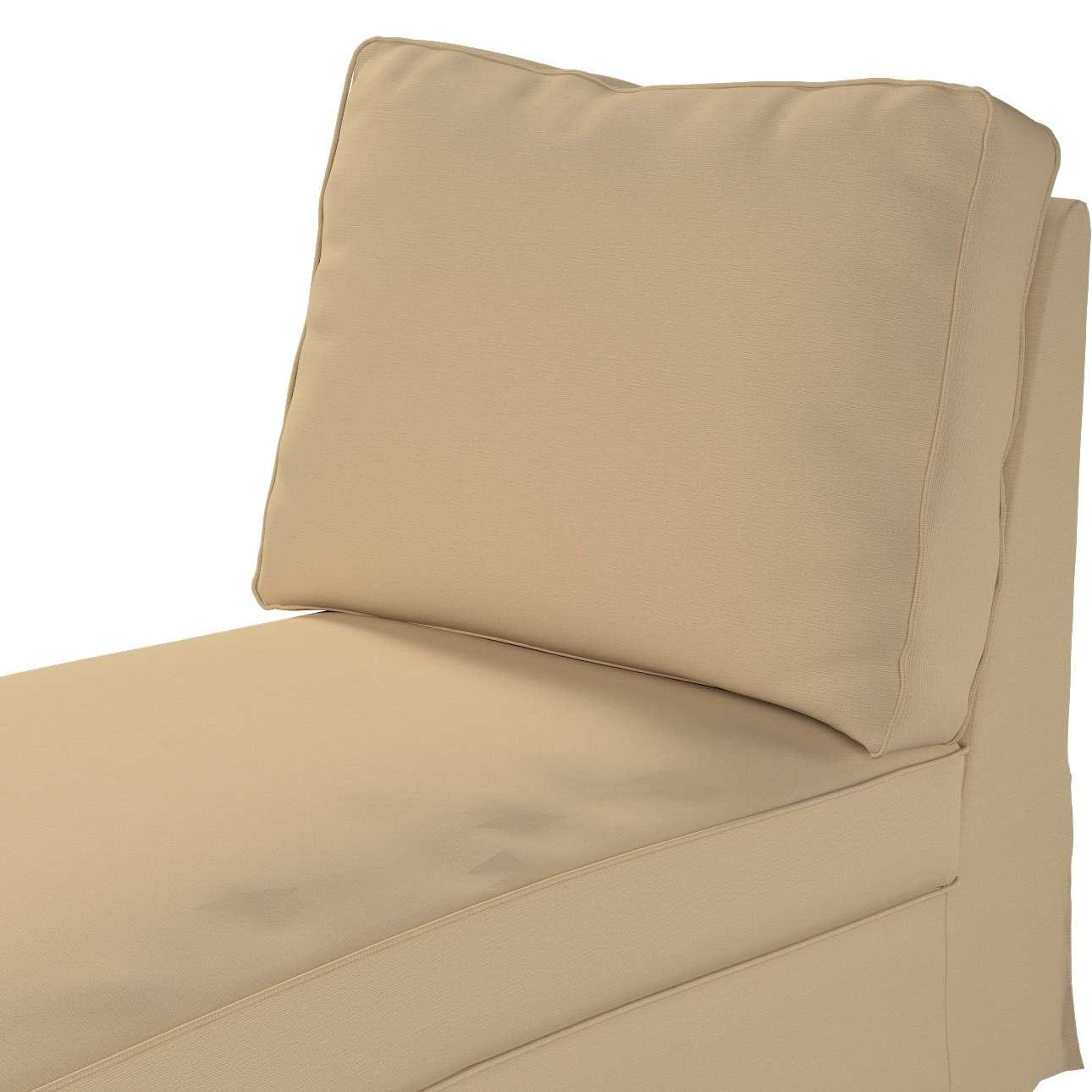 Ektorp trekk sjeselong uten armlen med rett rygg fra kolleksjonen Cotton Panama, Stoffets bredde: 702-01