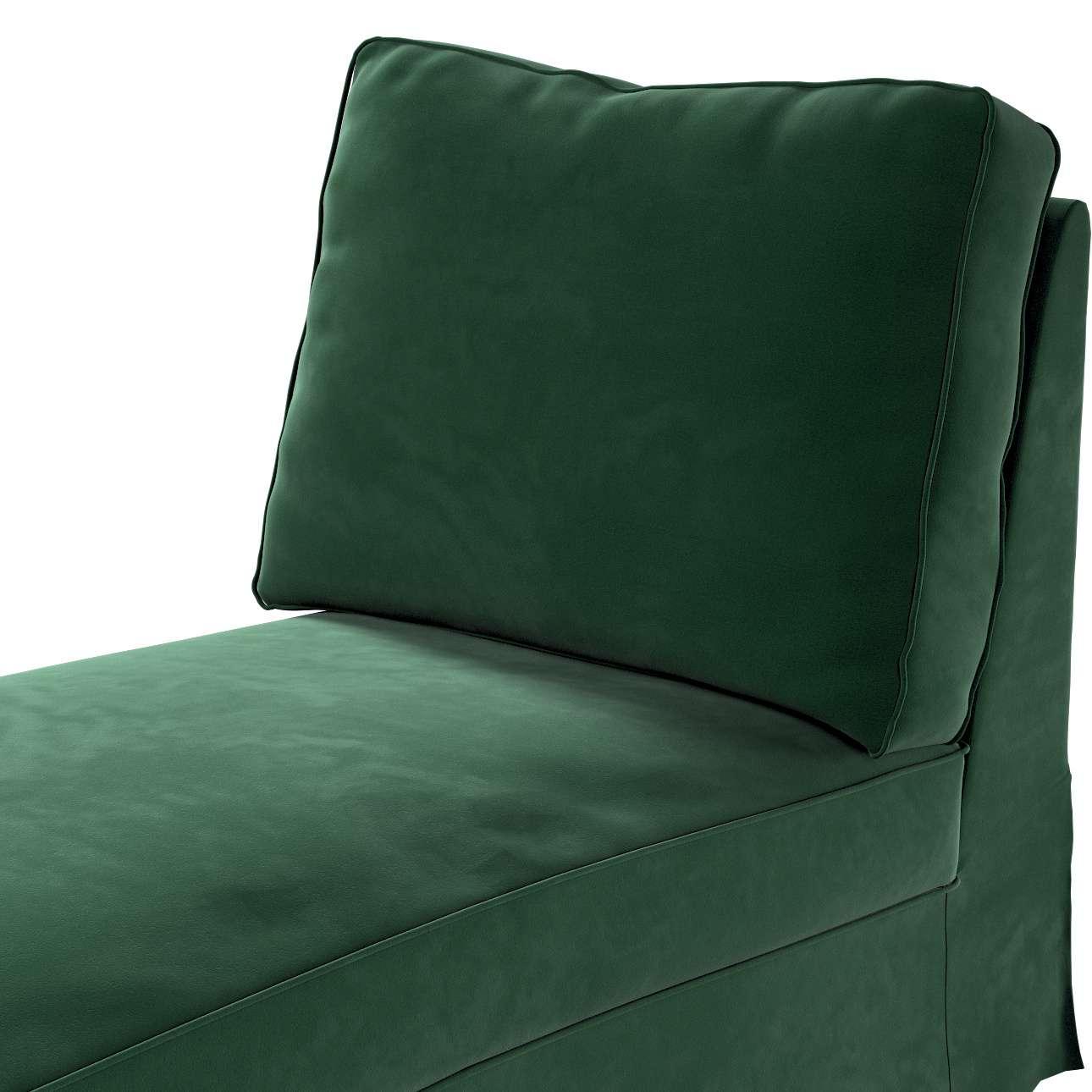 Pokrowiec na szezlong/ leżankę Ektorp wolnostojący prosty tył w kolekcji Velvet, tkanina: 704-13