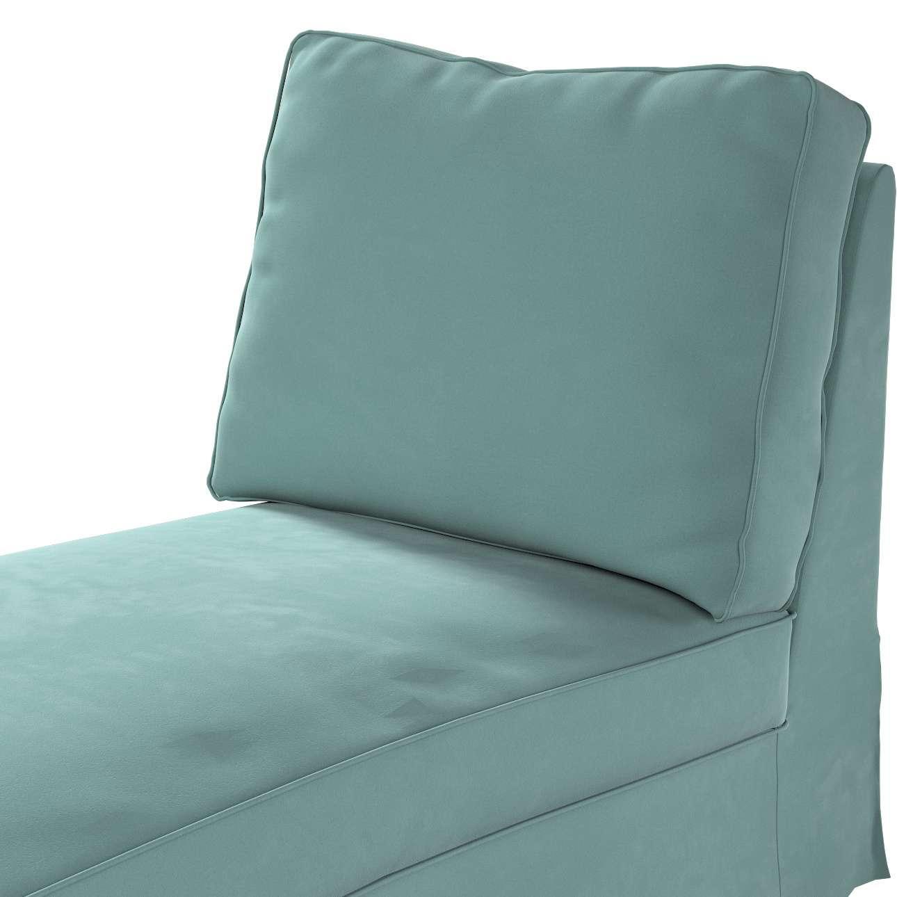 Pokrowiec na szezlong/ leżankę Ektorp wolnostojący prosty tył w kolekcji Velvet, tkanina: 704-18