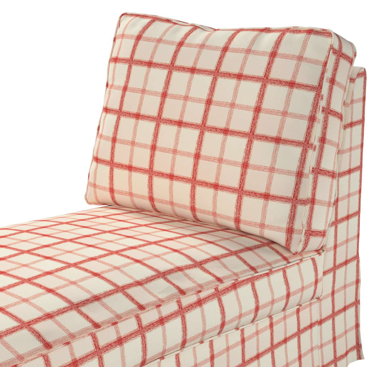 Pokrowiec na szezlong/ leżankę Ektorp wolnostojący prosty tył w kolekcji Avinon, tkanina: 131-15