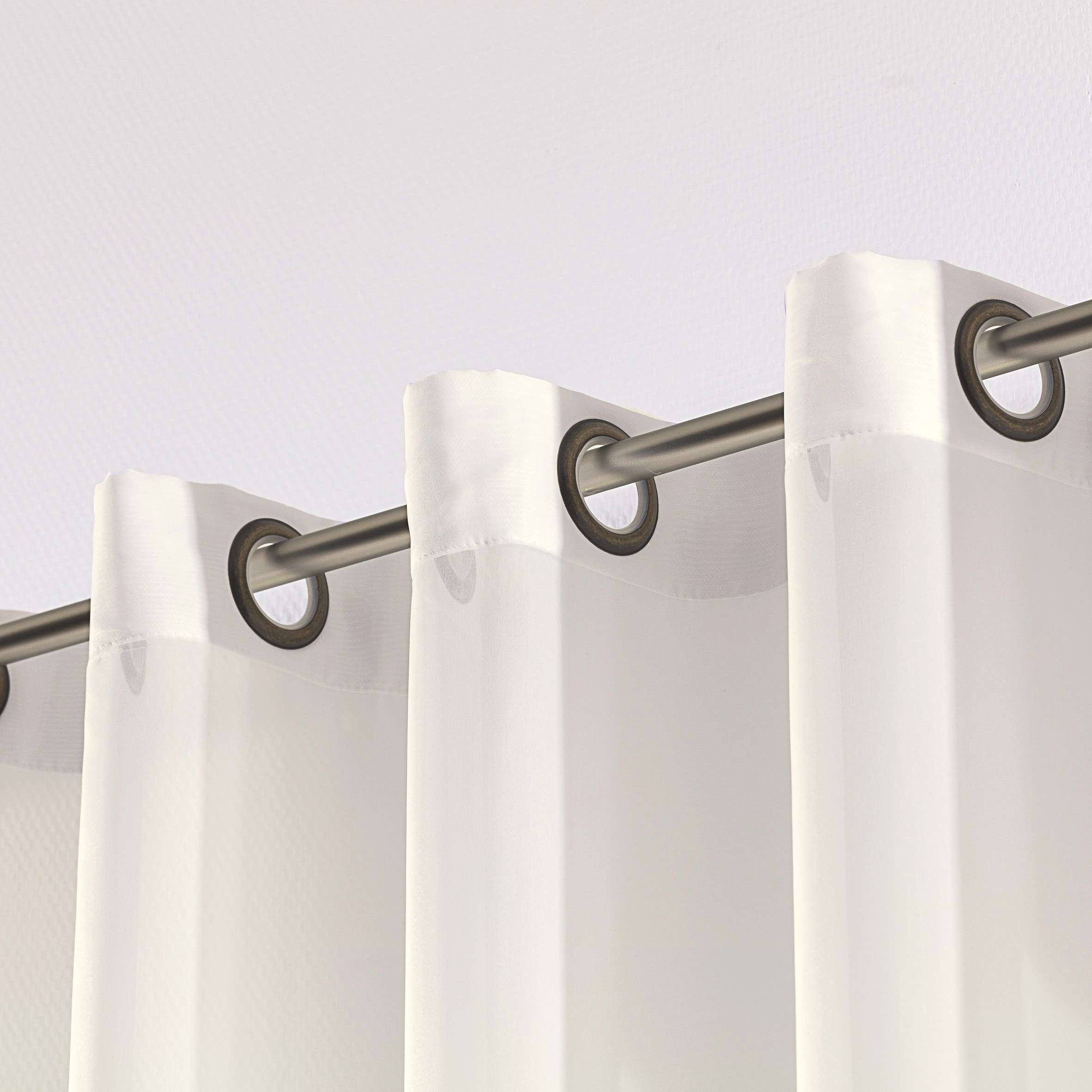 Záclona voálová jednoduchá na kroužcích na míru v kolekci Voile - Voál, látka: 900-01