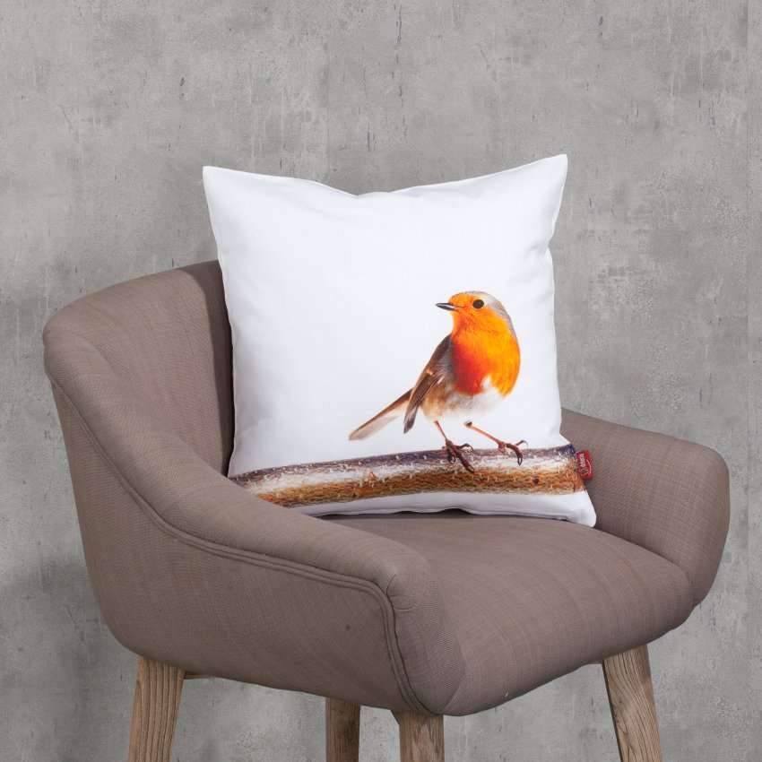 Decoratieve kussenhoes Robin 45 x 45 cm
