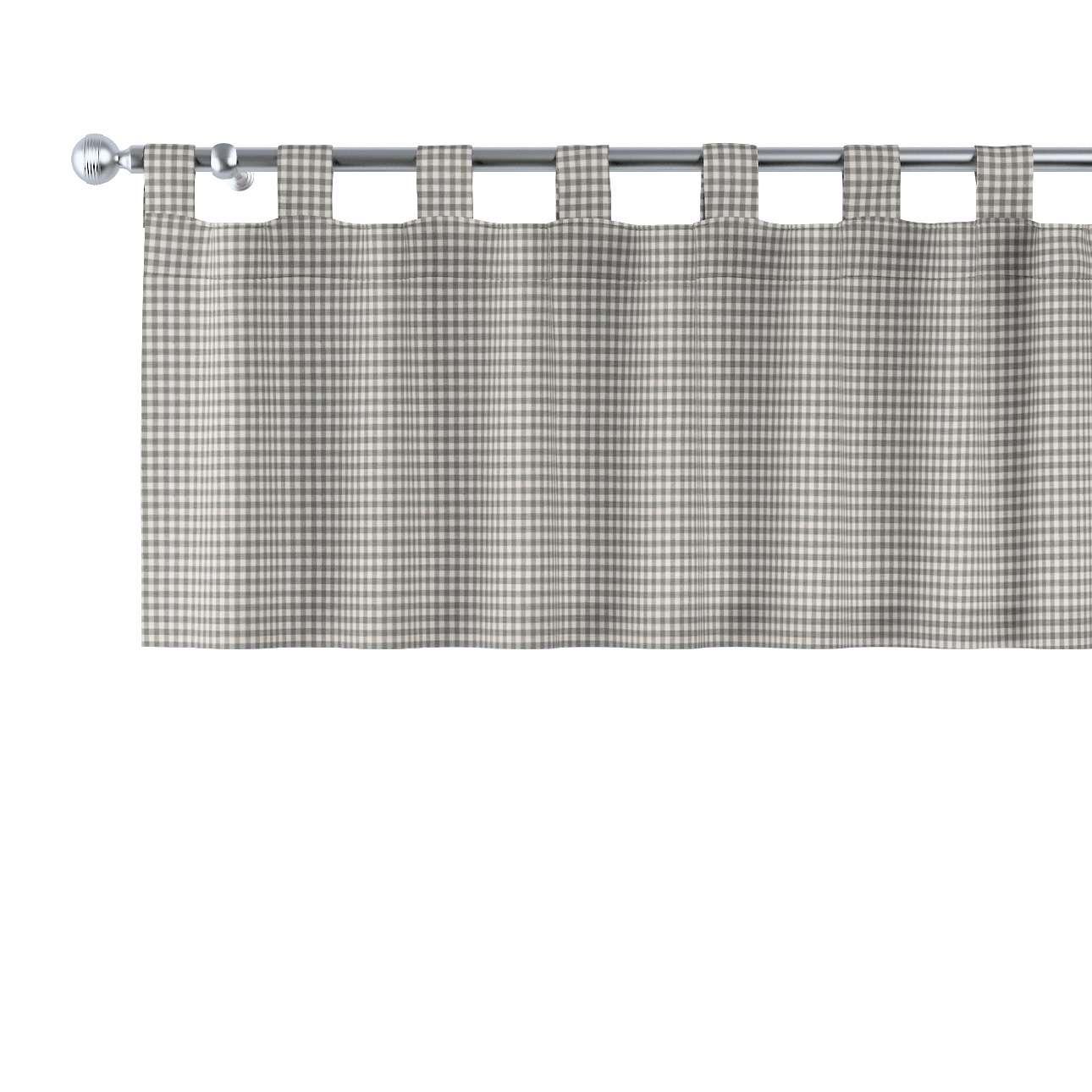 Gardinkappe med stropper fra kolleksjonen Quadro, Stoffets bredde: 136-10