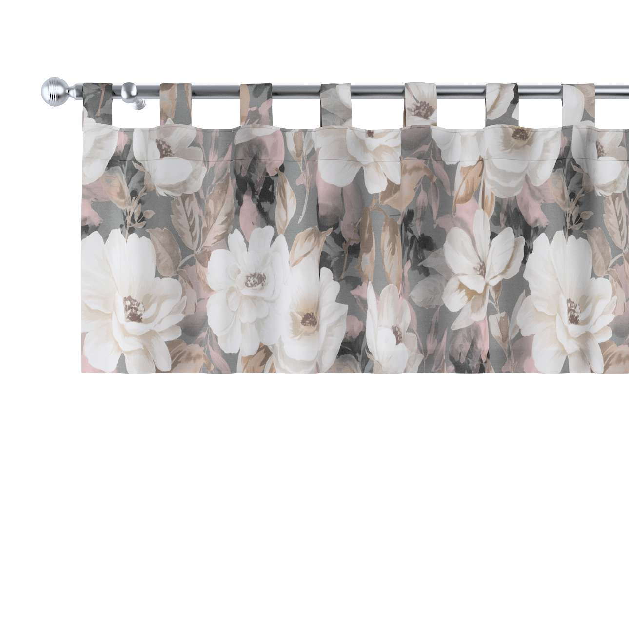 Gardinkappe med stropper fra kolleksjonen Gardenia, Stoffets bredde: 142-13