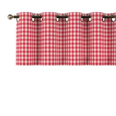 Gardinkappe med maljer fra kolleksjonen Quadro, Stoffets bredde: 136-16