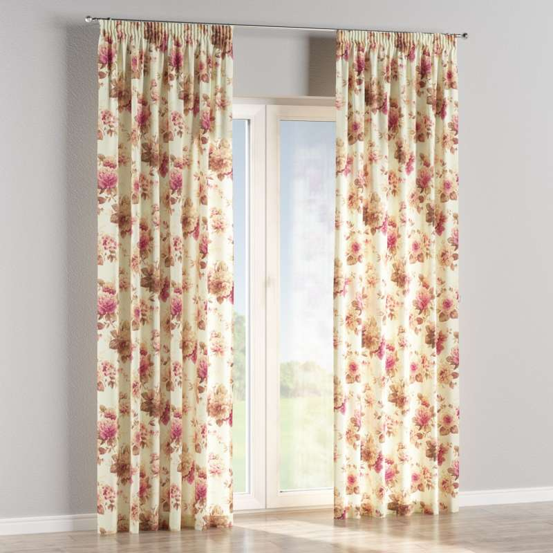Pencil pleat curtains in collection Londres, fabric: 141-06