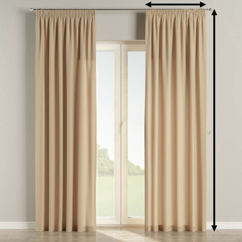 Pencil pleat curtains in collection Panama Cotton, fabric: 702-01