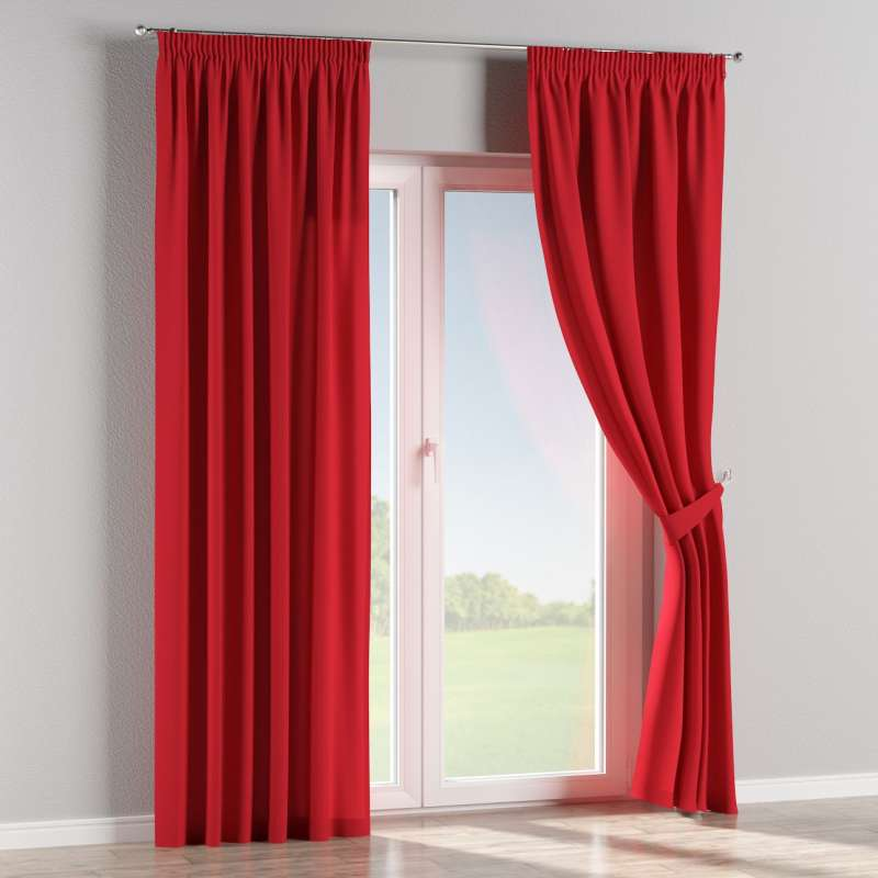 Pencil pleat curtains in collection Panama Cotton, fabric: 702-04
