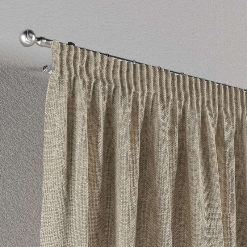 Pencil pleat curtains in collection Linen, fabric: 392-05
