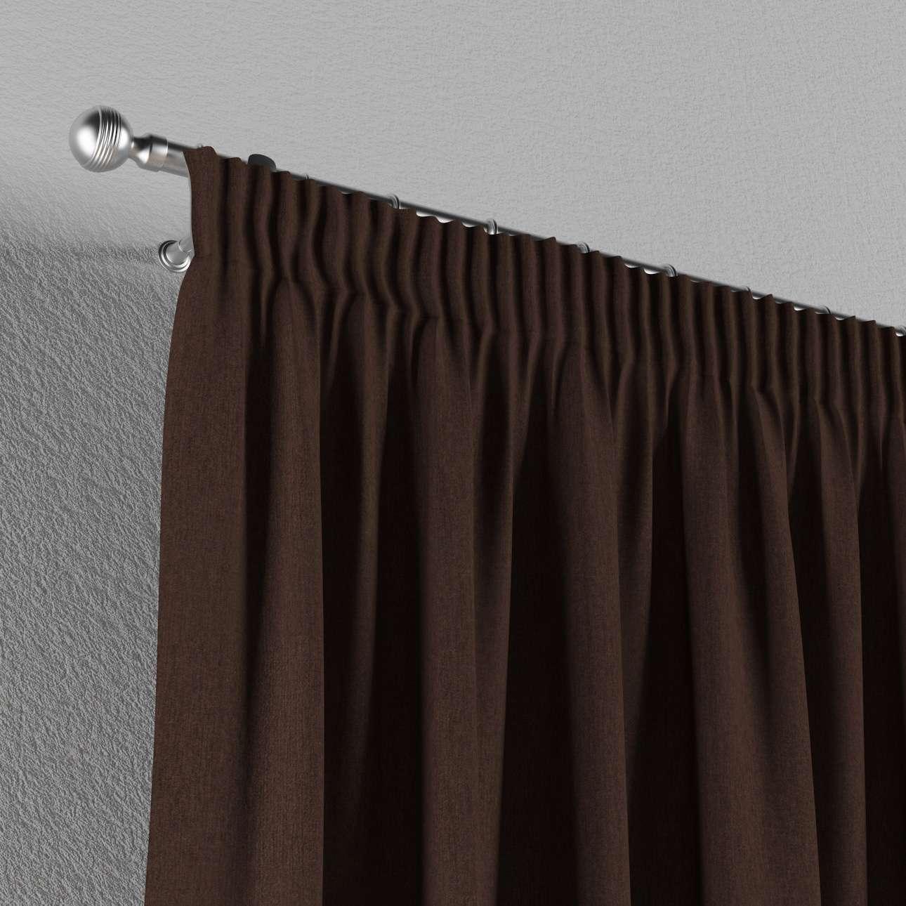 Vorhang mit Kräuselband von der Kollektion Chenille , Stoff: 702-18