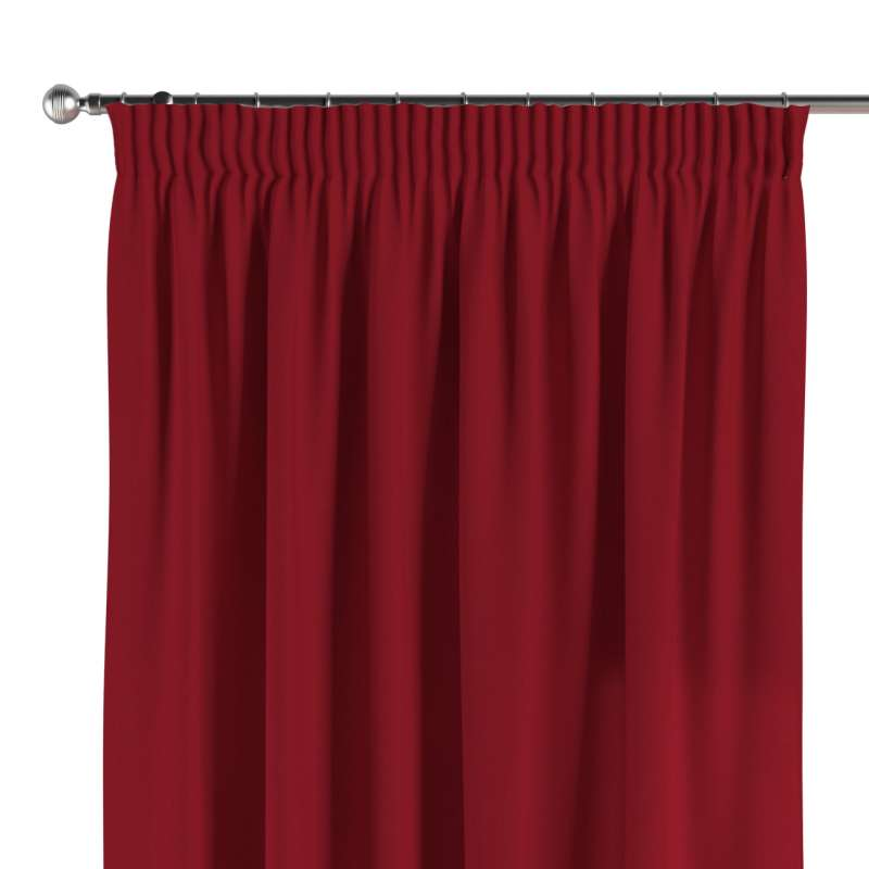 Pencil pleat curtains in collection Chenille, fabric: 702-24