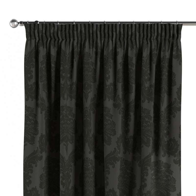 Pencil pleat curtains in collection Damasco, fabric: 613-32