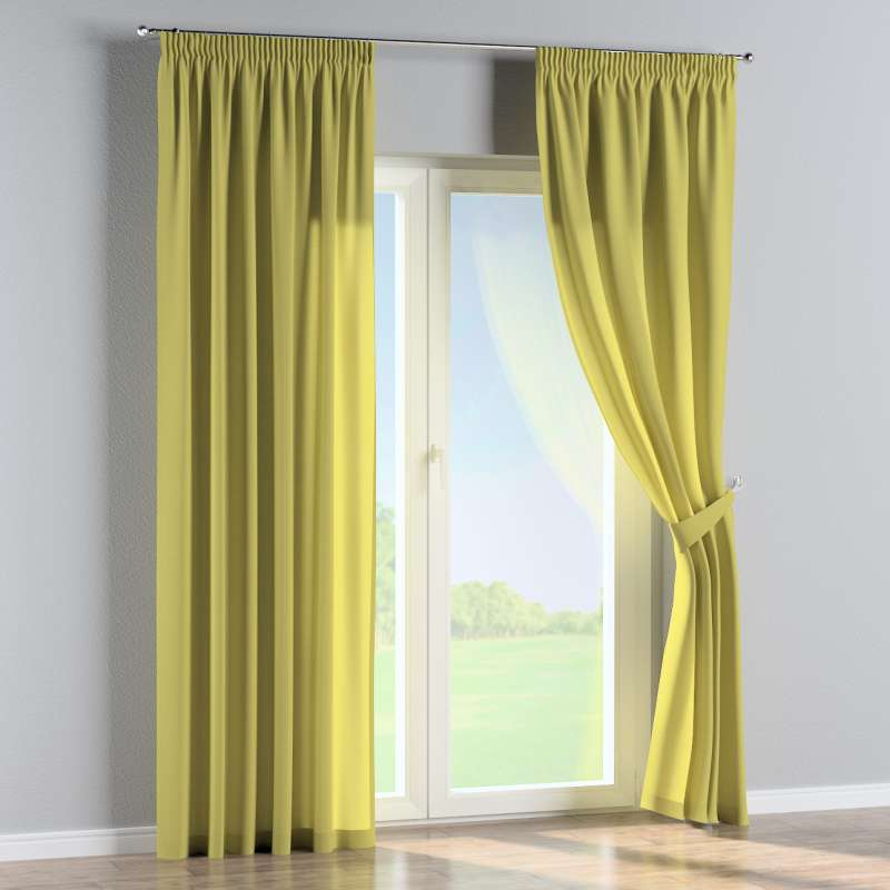 Pencil pleat curtains in collection Loneta , fabric: 133-23