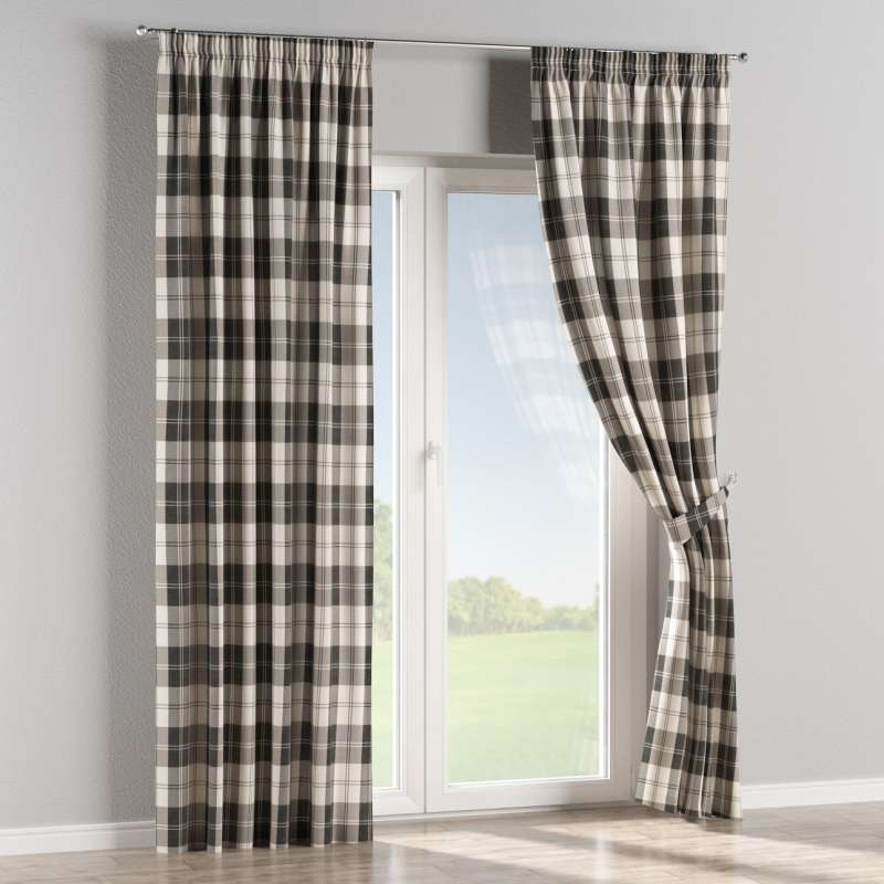 Pencil pleat curtains in collection Edinburgh, fabric: 115-74